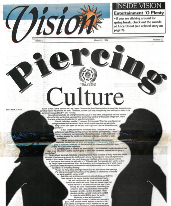 277b8c7696e3 Vision Magazine  Piercing Culture - Tribal Rites Tattoo